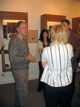 Oldrich Kvapil attending a mold exhibition